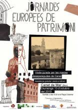 Cartell de les Jornades Europees del Patrimoni - Canet de Mar 2019