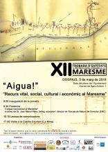 Cartell XII Trobada entitats recerca local del Maresme a Dosrius