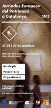 Portada programa Jornades Europees del Patrimoni
