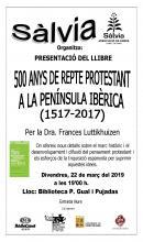"Cartell llibre ""500 anys de repte protestant a la península ibèrica"""