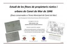Portada estudi fitxe spropietaris rústics i urbans Canet 1846