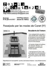 Cartell ruta masies de Canet - 2017