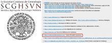 Web del CEC a la Societat Catalana de Genealogia